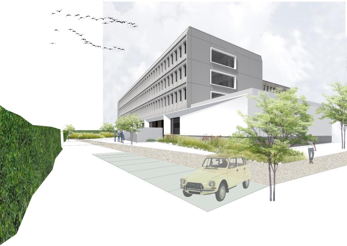 bedrijfstuin en parking - Anderlecht